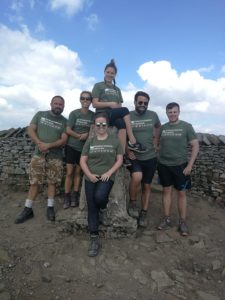 An image of the team on completion of the Yorkshire 3 Peaks