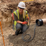 Image of Eve Apprentice Groundworker on site apprenticeship