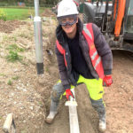 Image of James Level 2 Groundworker on site