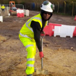 Image of Thulani Apprentice Groundworker on site apprenticeship